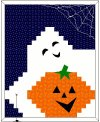"""Boo!-ti-ful Halloween Wall Hanging"" An original pattern by Christine Schnaufer for QuiltBus.com"