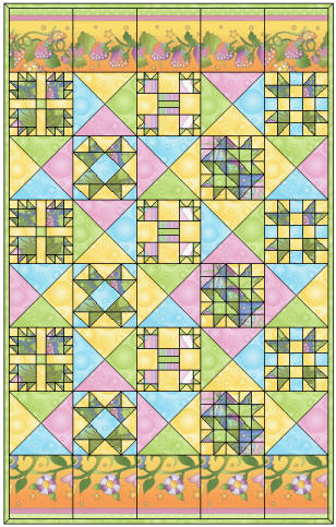 Free Block of the Month Quilt Pattern: Fairy Tale Garden ... : fairy tale quilt patterns - Adamdwight.com