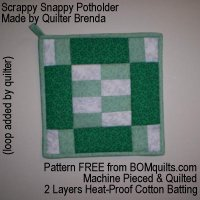 Scrappy Snappy Potholder from BOMquilts.com