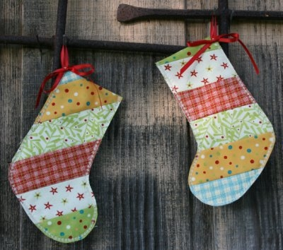 Holly Jolly Gift Christmas Stockings from BOMquilts.com